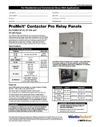Thumbnail for ProMelt Contactor Pro Submittal