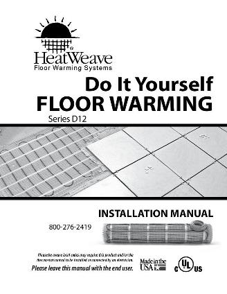 Thumbnail for HeatWeave DIY Installation Manual