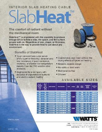 Thumbnail for SlabHeat Product Information Sheet