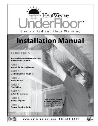Thumbnail for HeatWeave UnderFloor Installation Manual