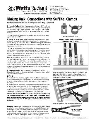 Thumbnail for Onix Repairs with SelfTite Clamps Instructions