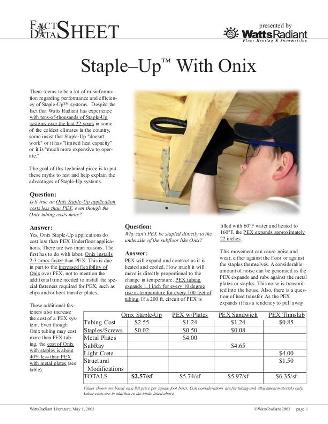 Thumbnail for Onix Staple-Up Product Sheet