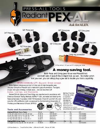 Thumbnail for RadiantPEX-AL PressAll Manual Tool