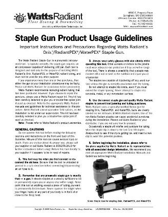 Thumbnail for Staple Gun Instructions