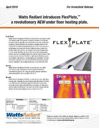 Thumbnail for FlexPlate Press Release