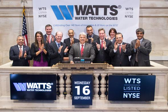 Preview Image Link for Watts Water Technologies Celebrates by Ringing the NYSE Closing Bell.